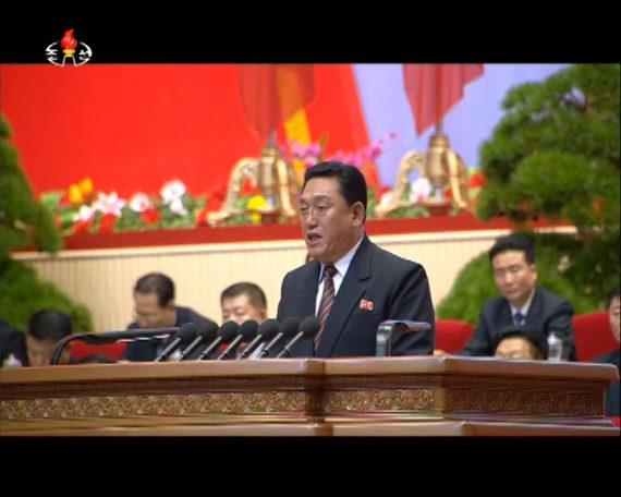 Jang Chol is seen in a Korean Central TV broadcast at the 7th Workers' Party Congress on May 7, 2016. (Photo: North Korea Tech/KCTV)